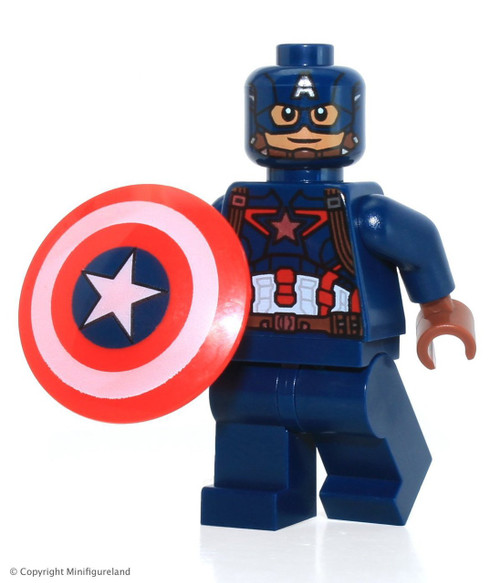 Lego marvel captain america civil war captain america minifigure the brick people - Lego capitaine america ...
