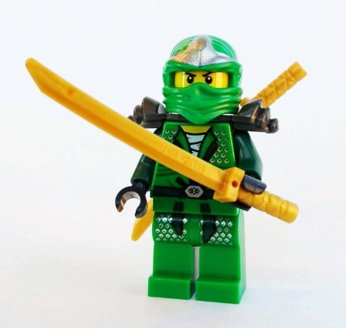 Lego lloyd zx green ninja with dual gold swords ninjago the brick people - Ninjago lloyd gold ...