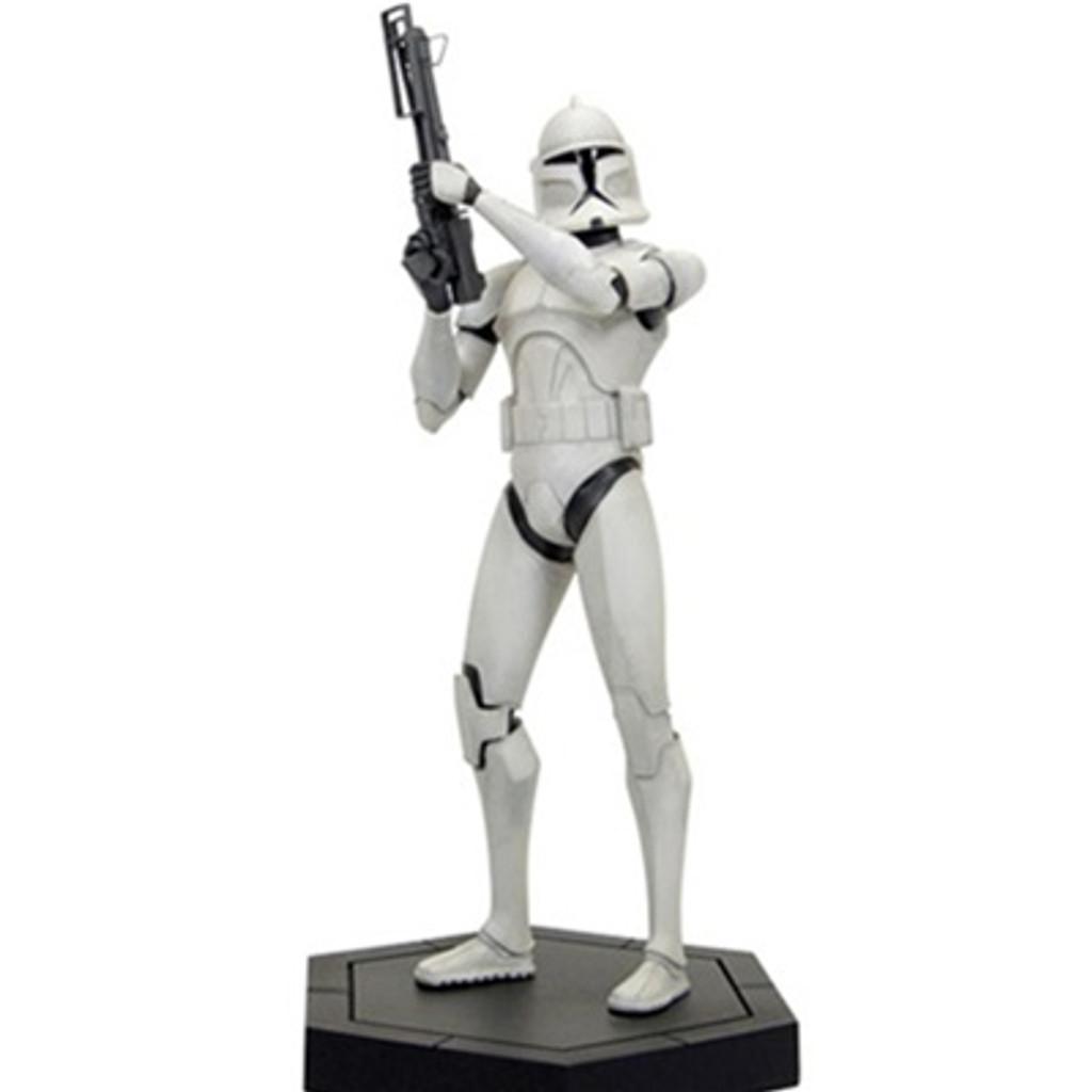 Clone Wars White Clone Trooper Maquette Thumbnail 2