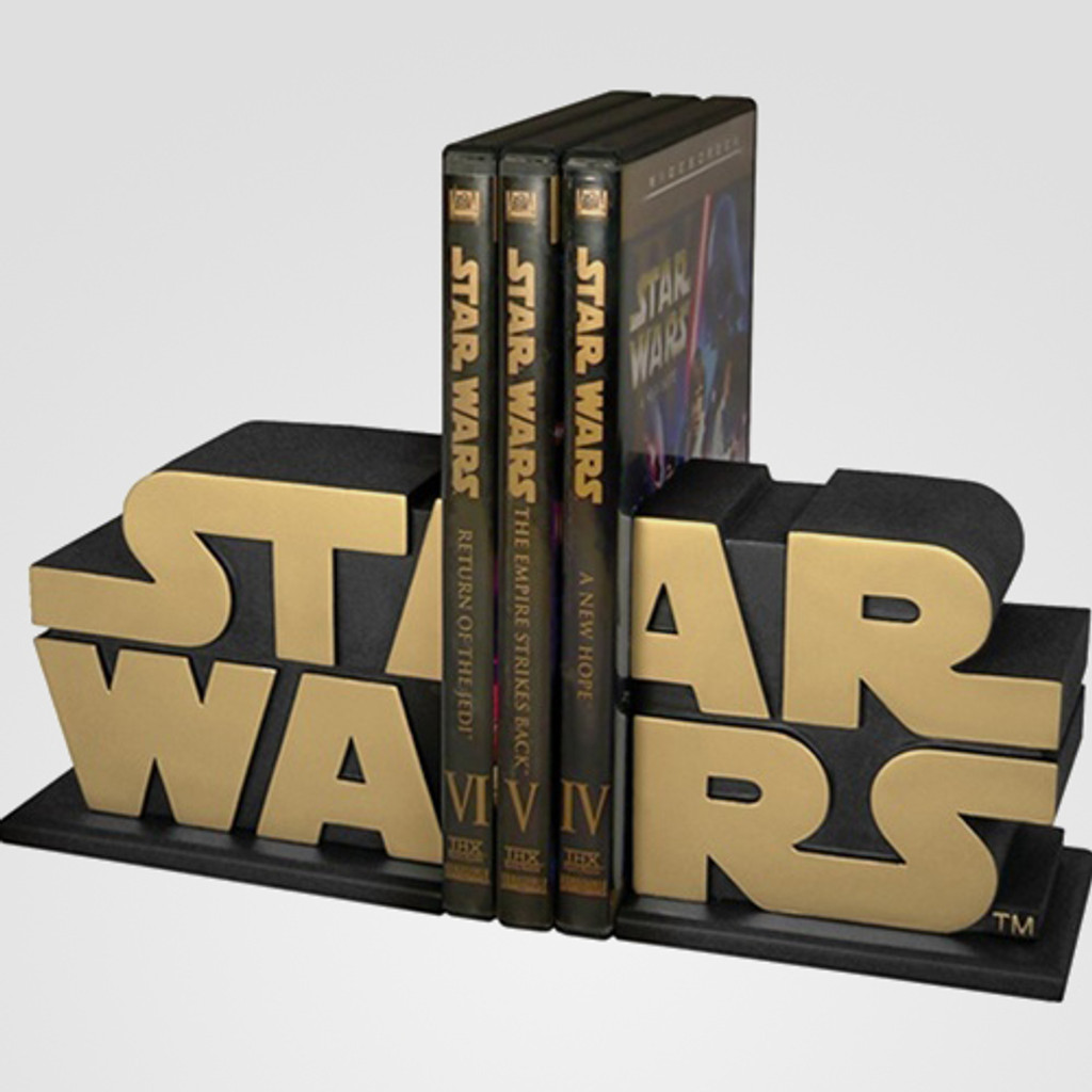 Gold Star Wars Logo Bookends - AFX Exclusive Thumbnail 5