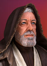 Obi Wan Kenobi (Alec Guinness) Mini Bust - 2017 PGM Gift Thumbnail 6
