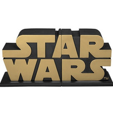 Gold Star Wars Logo Bookends - AFX Exclusive Thumbnail 2
