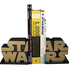 Gold Star Wars Logo Bookends - AFX Exclusive Thumbnail 4