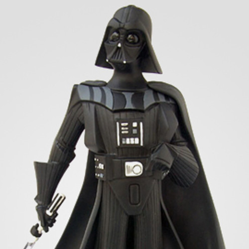 Animated Darth Vader Black and White Maquette Thumbnail