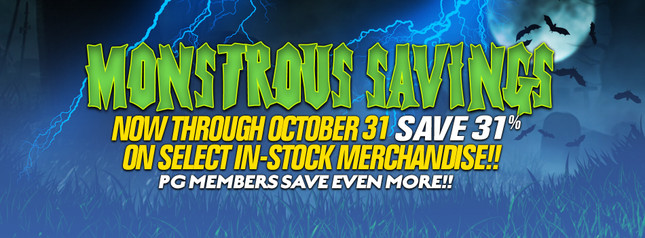 Monstrous Savings Happening Now in our 2017 Halloween Sale!