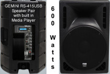 GEMINI RS-415USB Active Speakers Built-in USB/SD Media Player $25 Instant Coupon use Promo Code: $25-OFF
