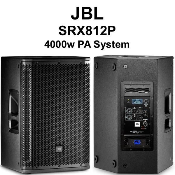 Jbl Srx812p Active 4000w Pa System Speaker Pair 100