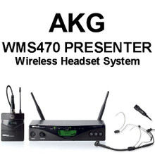 AKG WMS470 PRESENTER Headset and Lavaliere Wireless Mic System $15 Instant Coupon use Promo Code: $15-OFF