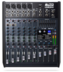 ALTO PROFESSIONAL LIVE 802 8 Channel USB FX Audio Mixer $10 Instant Coupon Use Promo Code: $10-OFF