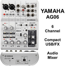 YAMAHA AG06 Compact USB/FX Audio Mixer $5 Instant Coupon Use Promo Code: $5-OFF