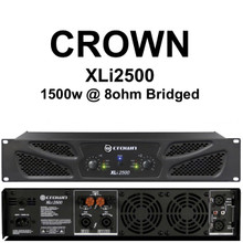 Crown xli2500 1500w bridged rackmount Amplifier $10 Instant Coupon use Promo Code: $10-OFF