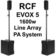 RCF EVOX 5 1600w Compact Active Line Array PA System Pair