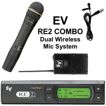 EV RE2 COMBO Dual Wireless Mic / Lavalier System $30 Instant Coupon Use Promo Code: $30-OFF