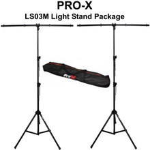Pro-X T-LS03M-9FTPKG (2) Black 9' All Metal Light Stands With Carry Bag $10 Instant Coupon Use Promo Code: $10-Off