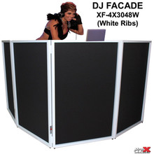 PRO-X XF-4X3048W White Ribbed DJ Facade with Interchangeable Transparent Black/White Scrims $10 Instant Coupon Use Promo Code: $10-OFF