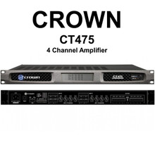 Crown CT475 Drivecore 4 Channel Install Rackmount Amplifier $100 Instant Coupon Use Promo Code: $100-Off