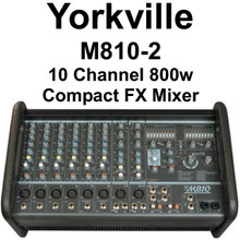 Yorkville M810-2 10 Channel 800w Compact FX Audio Mixer $50 Instant Off Use Promo Code: $50-Off