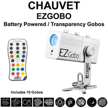 CHAUVET DJ EZGOBO Battery Powered LED IRC Remote Controlled Transparency Projector $5 Instant Coupon Use Promo Code: $5-OFF
