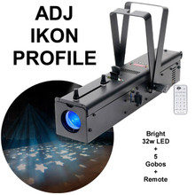 AMERICAN DJ IKON Profile Gobo Projector includes Remote & (5) Replaceable Gobos $15 Instant Coupon Use Promo Code: $15-OFF