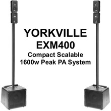 Yorkville EXM400 Compact Scalable 1600w Peak PA Speaker System Pair $200 Instant Coupon Use Promo Code: $200-Off