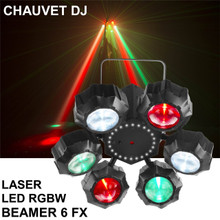 CHAUVET DJ BEAMER 6 FX RGBW LED LASER Light $10 Instant Coupon Use Promo Code: $10-OFF