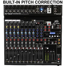 PEAVEY PV14AT Built-In Antares Live Pitch Correction USB FX Mixer $20 Instant Off Use Promo Code: $20-OFF