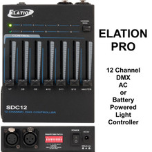 ELATION SDC12 DMX AC or Battery Powered 12 Channel Light Controller $5 Instant Coupon Use Promo Code: $5-OFF