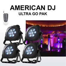 AMERICAN DJ ULTRA GO PAK 4 Rechargeable Lithium Battery-Powered Tri RGB LED Lights $50 Instant Coupon Use Promo Code: $50-OFF