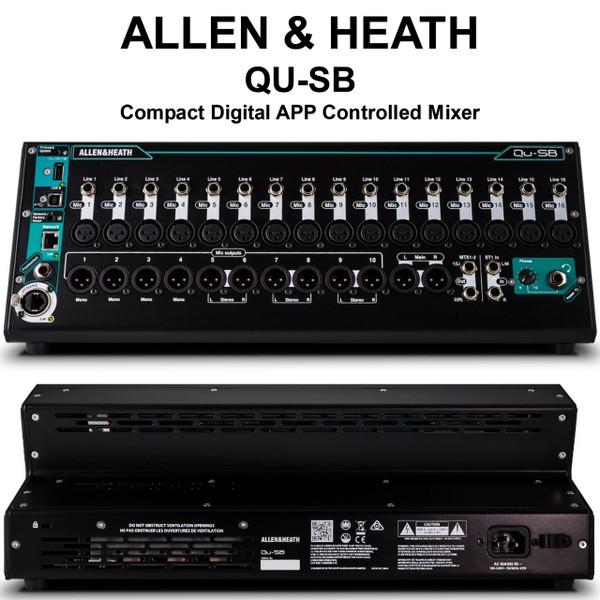 allen heath qu sb compact digital app controlled audio mixer lightingelstore. Black Bedroom Furniture Sets. Home Design Ideas