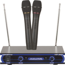 VOCOPRO VHF-3005 Dual Wireless Handheld Mic System $5 Instant Coupon Use Promo Code: $5-OFF
