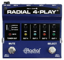 RADIAL ENGINEERING 4 PLAY Multi-Channel Live or Studio Instrument Direct Box $5 Instant Coupon Use Promo Code: $5-OFF