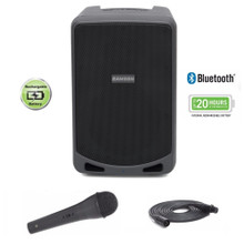 SAMSON EXPEDITION XP106 Portable 20 Hour Rechargeable Bluetooth Wired Mic PA System $5 Instant Coupon Use Promo Code: $5-OFF
