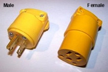 Edison Male or Female 15amp / 125volt ac plug