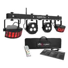 CHAUVET DJ GIGBAR FLEX Complete Wireless Foot Control 3n1 Led / Derby / Quad Par / UV Remote System $10 Instant Coupon Use Promo Code: $10-OFF