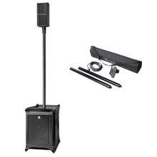 HK AUDIO LUCAS NANO 600 Compact 3 Channel Active PA System with Mono Poles, Speaker Mount, Cable & Gigbag