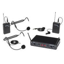 SAMSON CONCERT 288 PRESENTATION Dual Wireless Headset & Lavalier Mic System $10 Instant Coupon Use Promo Code: $10-OFF