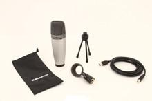 SAMSON C03U Dual Large Diaphragm USB Multi Pattern Mic for Podcast $5 Instant Coupon Use Promo Code: $5-OFF