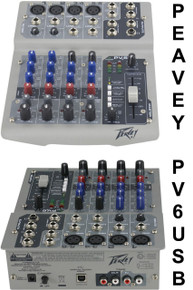PEAVEY PV6USB Recording Project Mixer $5 Instant Off Use Promo Code: $5-OFF
