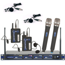 VOCOPRO UHF5800HB-7 (4) Receiver Wireless Rackmount System (2) Handheld, Headset, Lavalier $20 Instant Coupon use Promo Code: $20-OFF