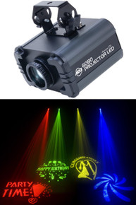 AMERICAN DJ GOBO PROJECTOR LED includes (4) Gobos & Colors $5 Instant Coupon use Promo Code: $5-OFF