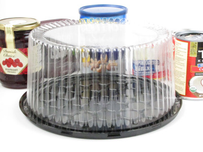 "9"" Display Cake Container - for 2-3 layers  #WG27"