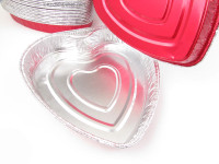 Foil heart shaped pan  #339NL