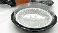 "6"" plastic pie container"