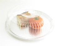 "12"" Foil Serving/Catering Tray with Plastic Lid - Pack of 25 - #12P"