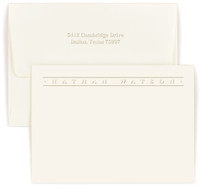 Personalized Marquee note card and envelope set embossed with names and optional return address on envelope