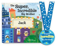 Personalized storybook rewarding a big brother for helping out and reassuring him that he is loved and appreciated