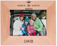 Custom Maple Wood Picture Frame