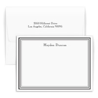 Personalized stationary set with first and last name, choice of ink and paper colors and optional return address on envelope