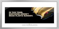 Corvette Framed Print - In this town, bodywork...