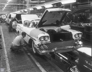 1958 Chevrolet Production Line Poster
